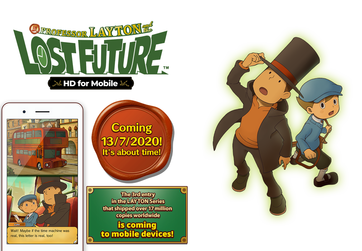 Latest in this puzzle series - Layton and the Lost Future arriving soon